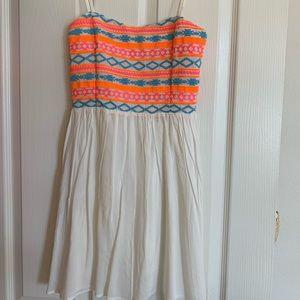 Olivaceous summer sun dress